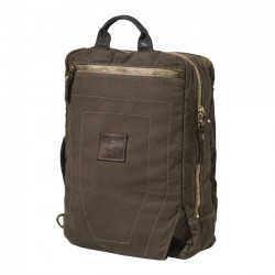 Washed Canvas & Leather Laptop Backpack - BERETTA by Campomaggi